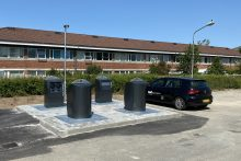 Fuldt nedgravet affaldsystem til affaldshåndtering og sortering